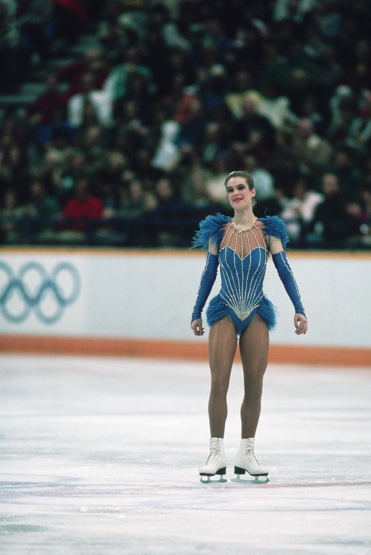 Katarina Witt won her second singles figure skating gold medal at the 1988 Olympic Games. (Photo by © Wally McNamee/CORBIS/Corbis via Getty Images) Beeld Corbis via Getty Images
