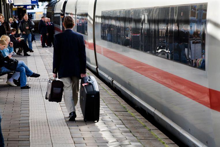 De ICE op Utrecht Centraal. Beeld Rob Huibers