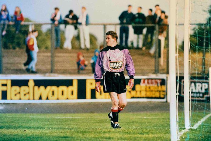 Eddie van Boxtel in 1995, toen hij kampioen van Ierland werd met Dundalk FC.