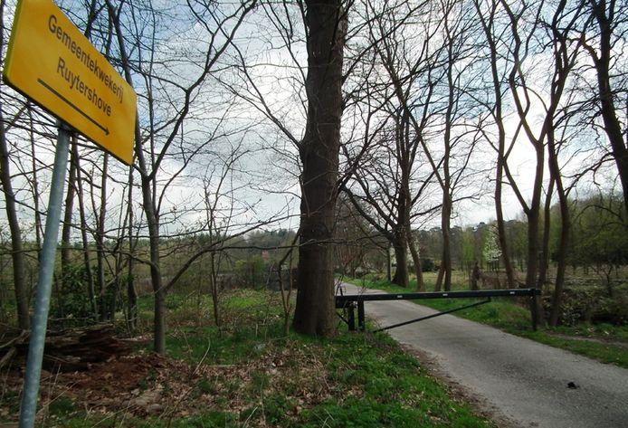 Gemeentekwekerij Ruytershove staat er nog altijd op het bordje, maar de kwekerij is eind 2009 al gesloten. foto Jan van de Kasteele