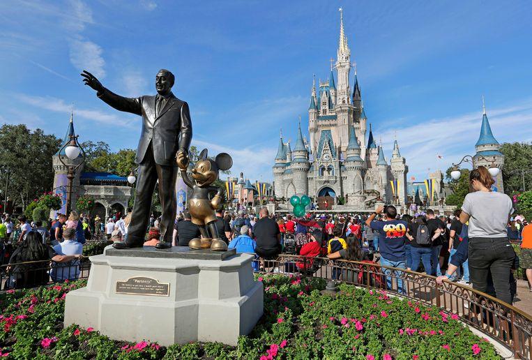 Disney World in Orlando in januari 2019, lang voor het coronavirus de wereld in zijn greep kreeg.