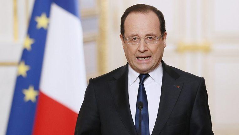 Franse president François Hollande Beeld null