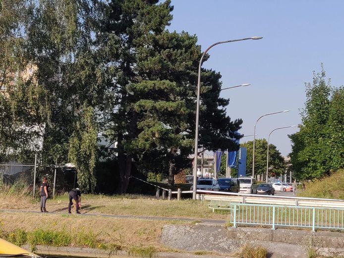 De zone werd na de schietpartij afgezet. Die speelde zich af op de IJzerweglaan aan de Schelde, tegenover de Stropkaai. Het was broeierig heet die dag.