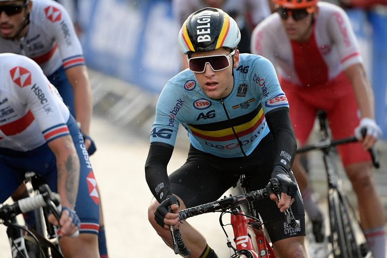 Van Wilder tijdens de wegrit op het afgelopen WK.