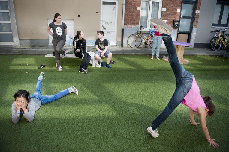 Spelende kinderen in Gent. Beeld An-Sofie Kesteleyn