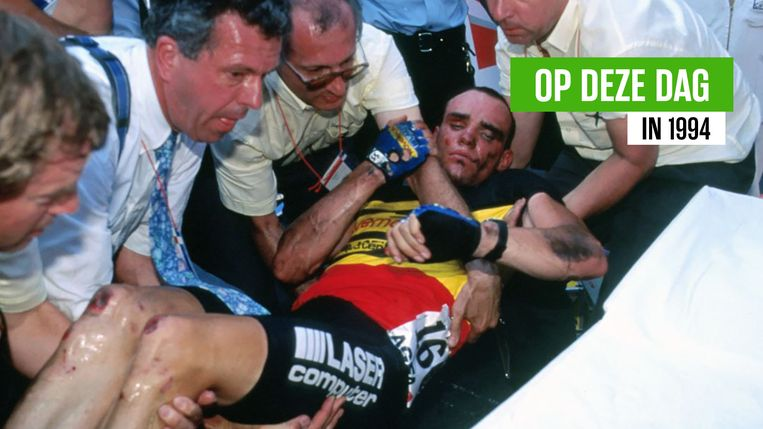 Nelissen werd na de valpartij afgevoerd naar het ziekenhuis van Lille, net als Laurent Jalabert en de politieagent.