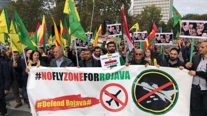 1.400 Koerden trekken door Brussel uit protest tegen Turkse inval