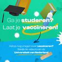 Hogescholen roepen studenten op om zich te laten vaccineren.