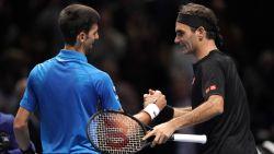Federer schakelt Djokovic uit op ATP Finals