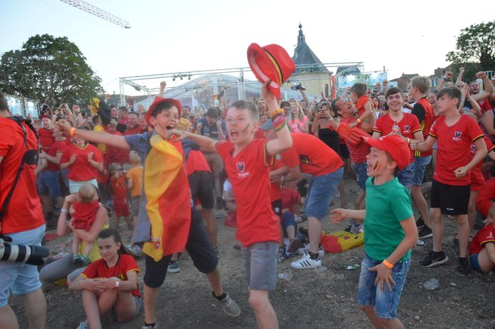 Op de pop up-site 'Garden of Eden' op de OCMW-site in Ninove kwamen in 2018 vele mensen voor de Rode Duivels supporteren tijdens het WK voetbal.