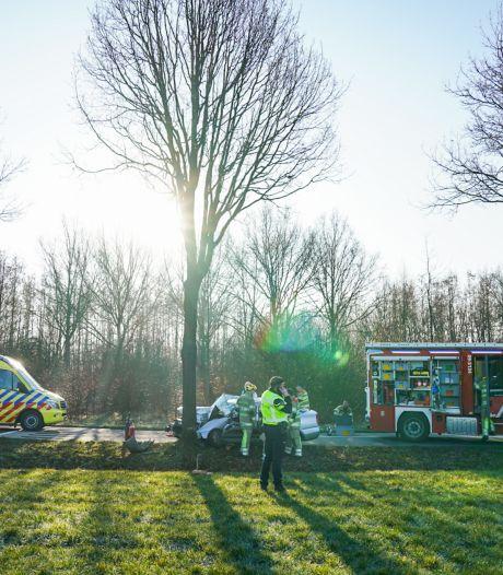 Auto rijdt tegen boom tussen Odijk en Driebergen, weg in beide richtingen afgesloten