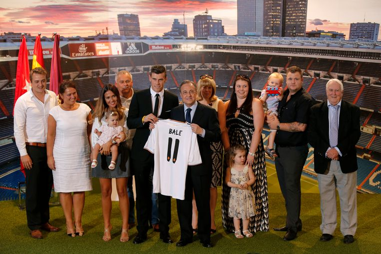 Bale met zijn familie.