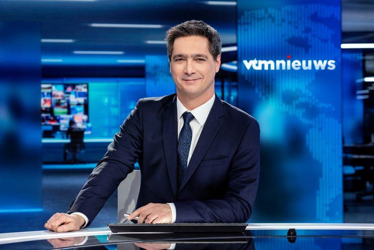 Anker Stef Wauters zag het aantal kijkers van 'VTM Nieuws' flink toenemen in juli.