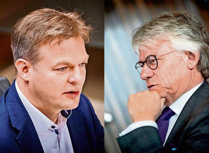 Het CDA moet alsnog proberen de breuk met Kamerlid Pieter Omtzigt (l) te lijmen, vindt de Gelderse commissaris van de Koning, John Berends (r).