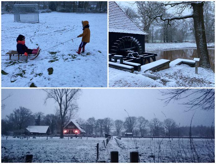 Twente geniet van de sneeuw.
