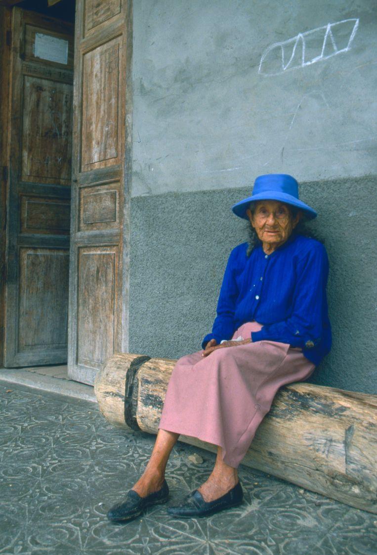 Anna Guaman, 103, in Vilcabamba, Ecuador (1982). Beeld Eddy Posthuma de Boer