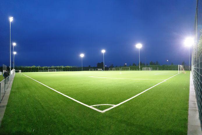ledverlichting op een sportveld
