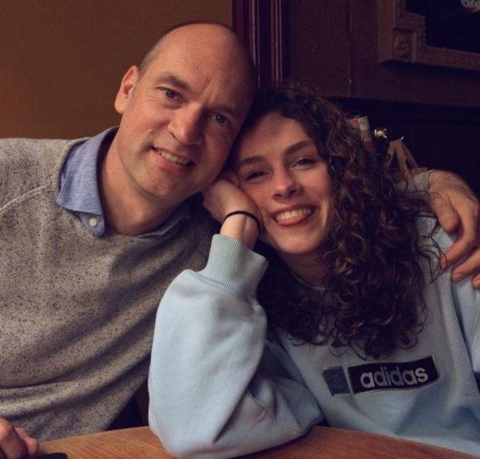 Gert-Jan Segers met zijn dochter Anne.
