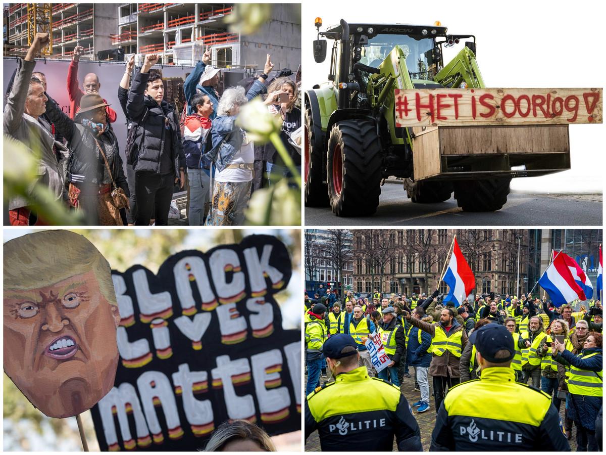 Demonstraties van Viruswaanzin, Farmers Defence Force, Black Lives Matter en de Gele Hesjes.