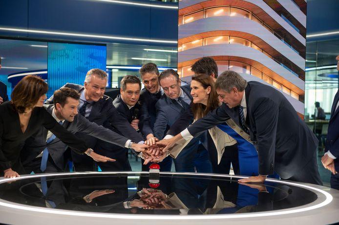 De plechtige opening van de VTM nieuwstudio in de gebouwen van DPG Media in  Antwerpen.