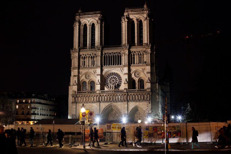 Het was de eerste keer sinds 1803 dat er geen kerstviering kon plaatsvinden in de wereldberoemde kathedraal. Beeld AP