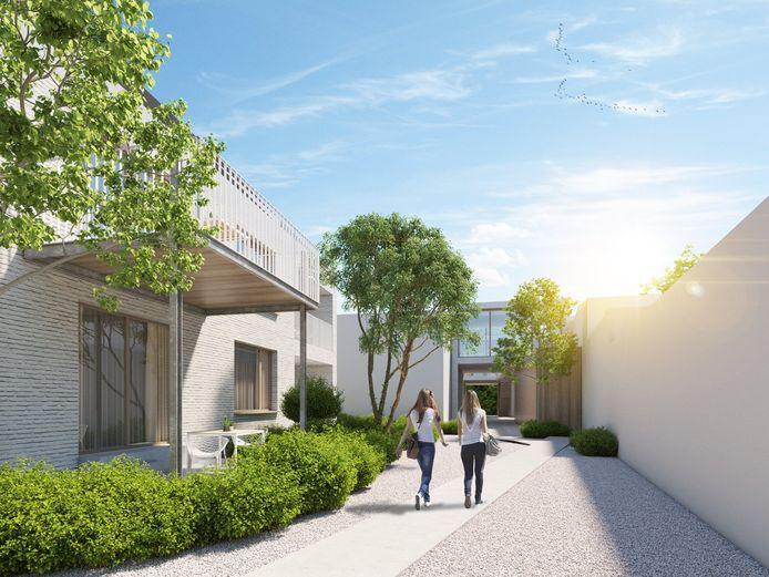 Domein ter Scheut wordt gebouwd rond een gemeenschappelijke binnentuin.