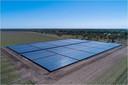 Een park met zonnecollectoren zoals Thijs van Oirschot in Haghorst wil aanleggen.