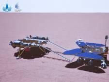 Chinese Marsverkenner Zhurong rijdt eerste meters op planeetoppervlak