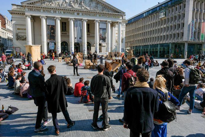 Twee weken lang mocht een tiental mensen uit de cultuursector De Munt bezet houden.