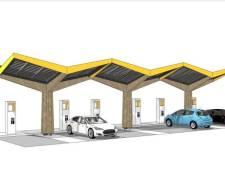 Eerste snellaadstation auto's gemeente Den Bosch langs Graafsebaan