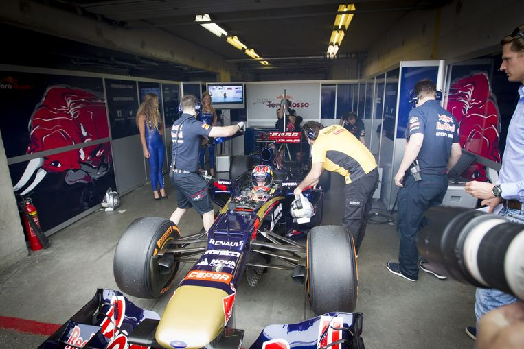 Max Verstappen na de demonstratie van zijn Formule 1-wagen op het circuit tijdens het evenement Italia a Zandvoort eind juni. Beeld anp