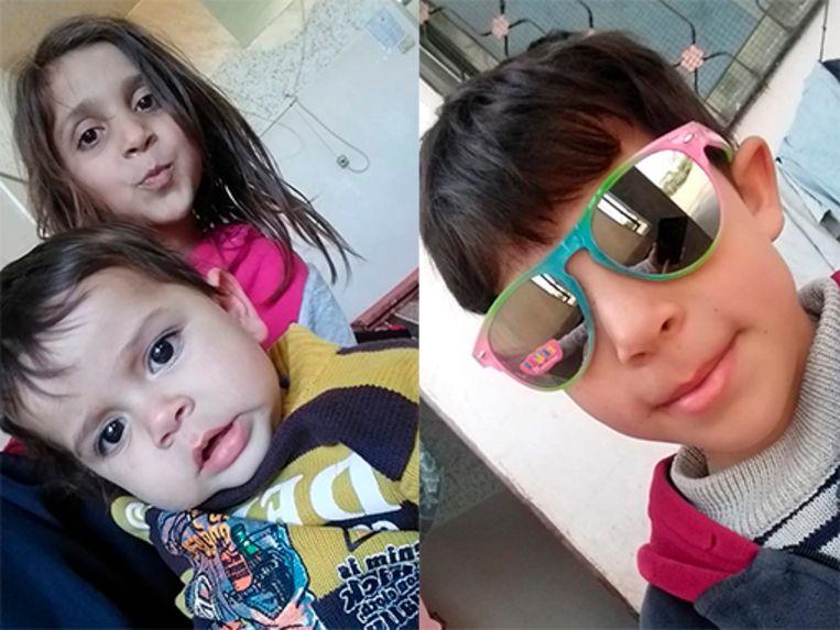 Amira en haar broertjes Muhammad-Zain en Islam al-Attar stierven in de armen van hun moeder. Beeld NYT