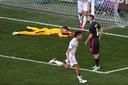Pablo Sarabia schoot Spanje naast Kroatië na op knullige wijze op achterstand te zijn gekomen.