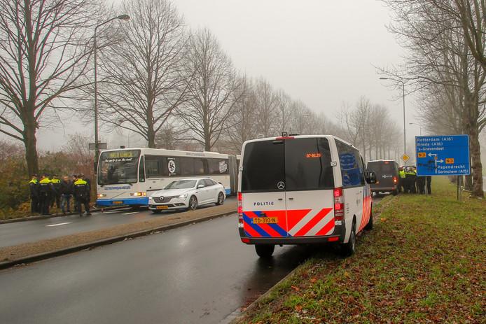 De bus werd stilgezet op de Copernicusweg.