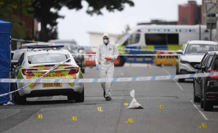 Ooggetuigen vertelden de media dat ze een man zagen die in koelen bloede op zijn slachtoffers instak. Beeld EPA