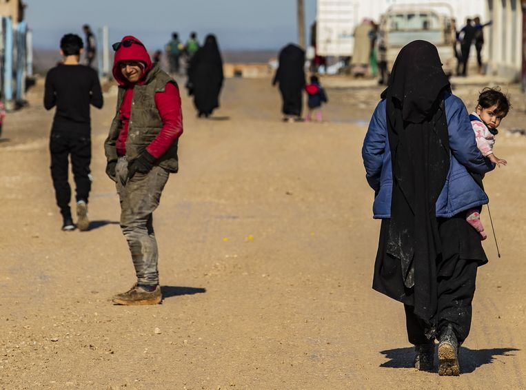 Een beeld uit het vluchtelingenkamp al-Hol.  Beeld AFP