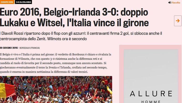 La Gazzetta dello Sport. Beeld kos