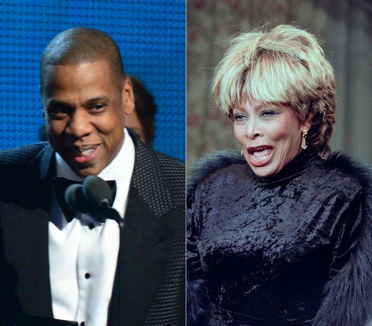 Jay-Z en Tina Turner. Beeld AFP