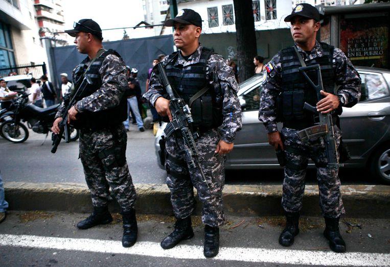 Politieagenten in Venezuela.