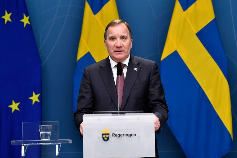 De Zweedse premier Stefan Löfven. Beeld AP