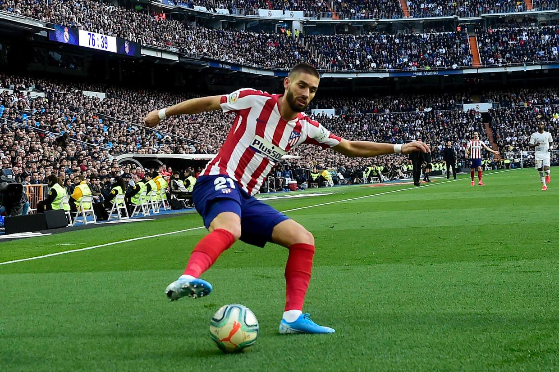 Yannick Carrasco keerde afgelopen winter terug naar Atlético Madrid. Beeld AFP