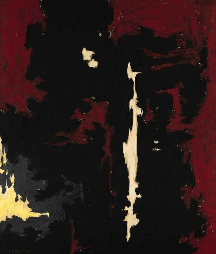 Clyfford Still, '1949-A-No.1'.