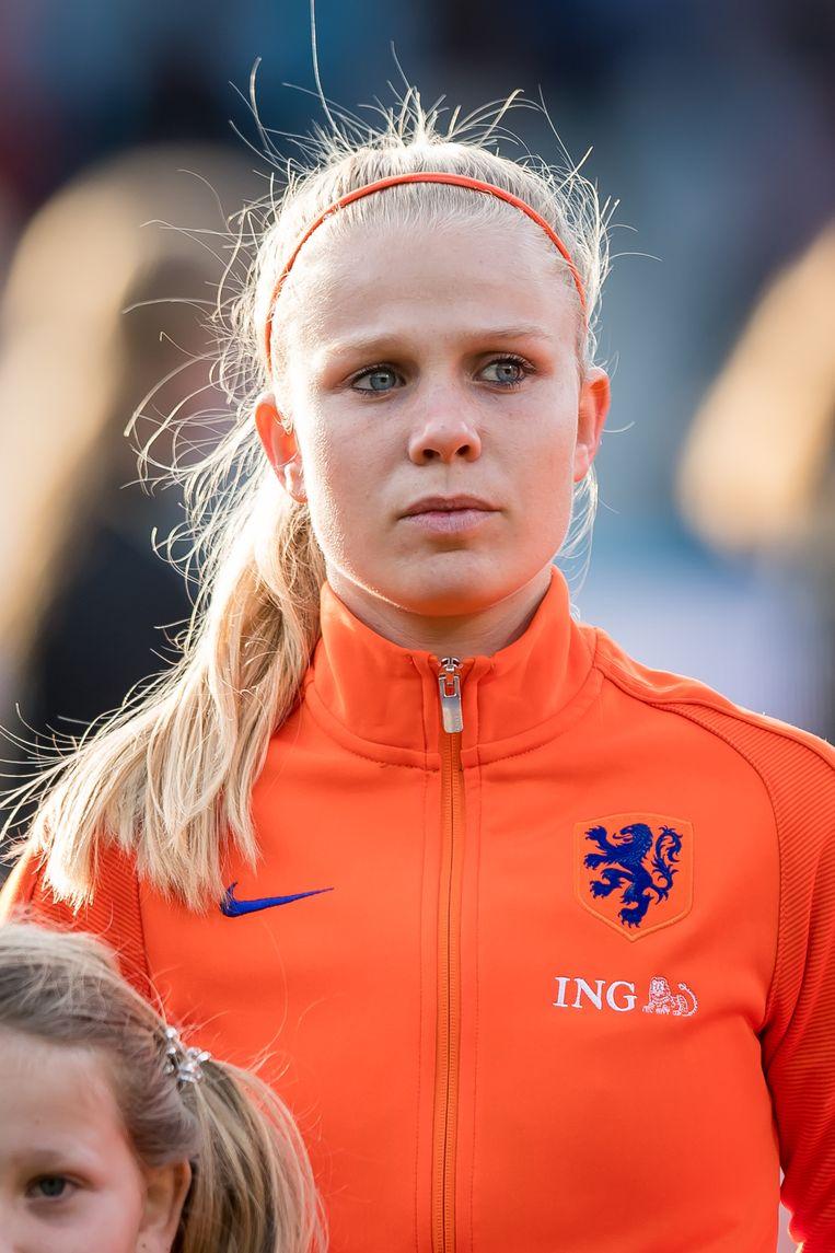 Kika van Es, eindelijk in actie op een groot toernooi. Beeld Hollandse Hoogte / VI Images (2)
