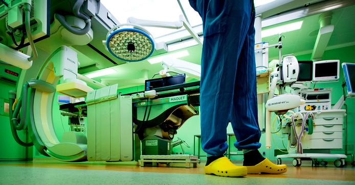 Operatiekamer in het operatiecentrum van het Academisch Medisch Centrum (AMC).