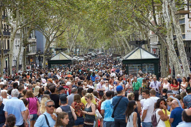 Barcelona wordt elk jaar door miljoenen toeristen overspoeld. Beeld EPA