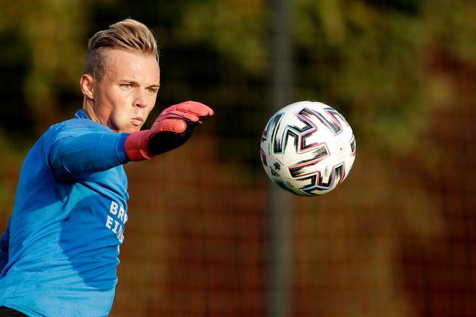 Maxime Delanghe, het 19-jarige keeperstalent van PSV.