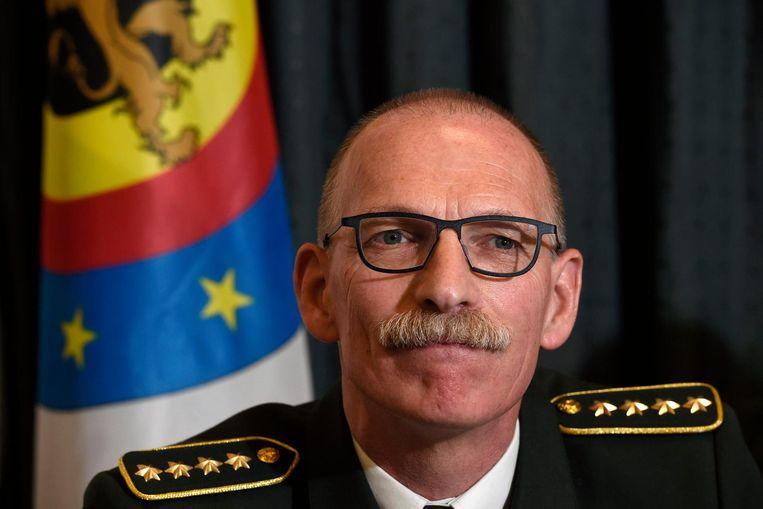 Marc Compernol, de nieuwe stafchef van het leger Beeld photo_news
