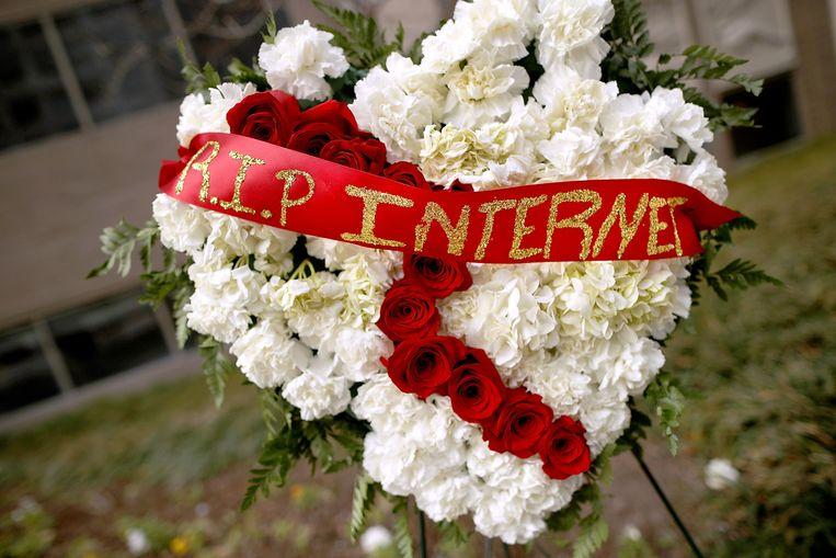 Het neutrale internet werd op 14 december begraven in de Verenigde Staten door de telecomwaakhond FCC. Beeld AFP