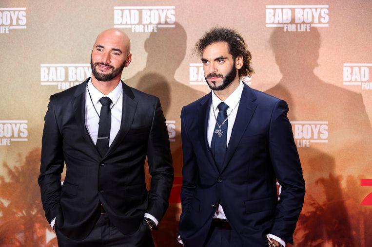Adil El Arbi en Bilall Fallah , hier bij de voorstelling van hun succesfilm 'Bad Boys for Life' in Berlijn, begin vorig jaar. Beeld REUTERS