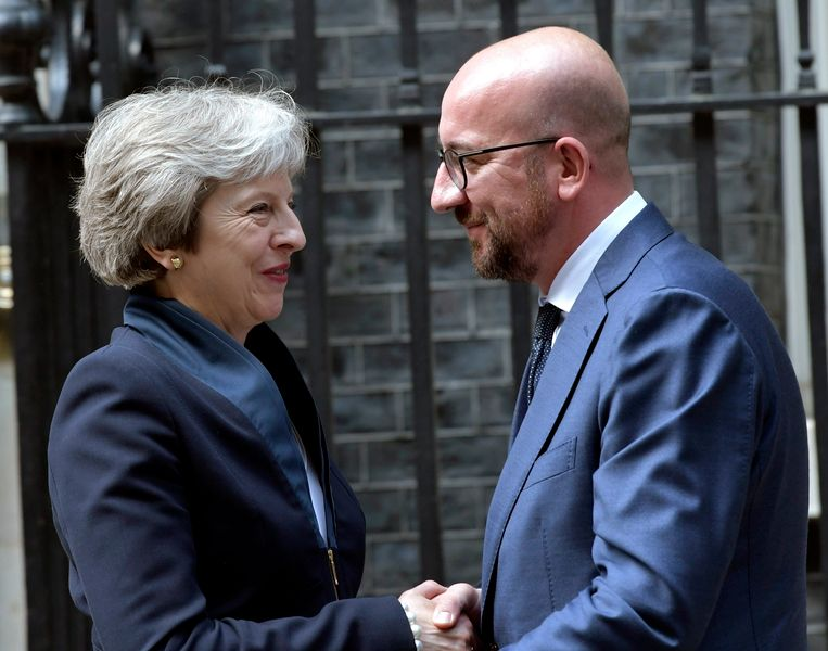 Charles Michel met Theresa May.